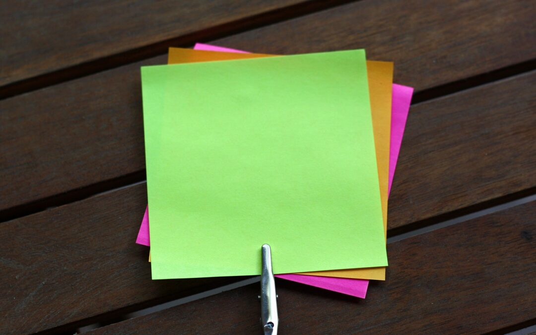 Sticky notes in action