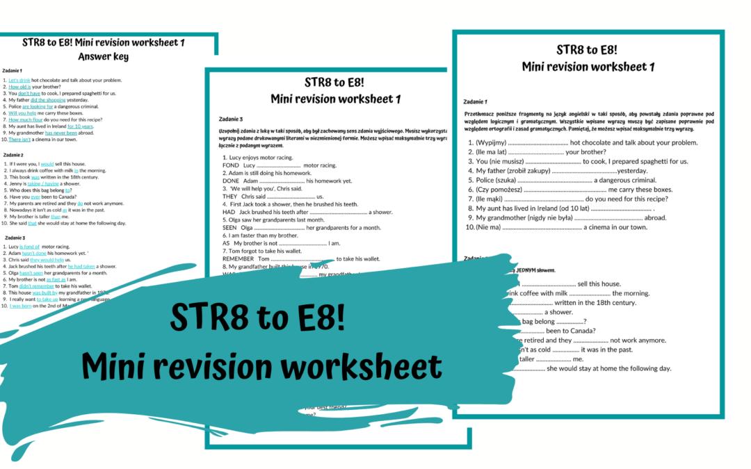 Przygotowanie do E8 – zestaw powtórzeniowy