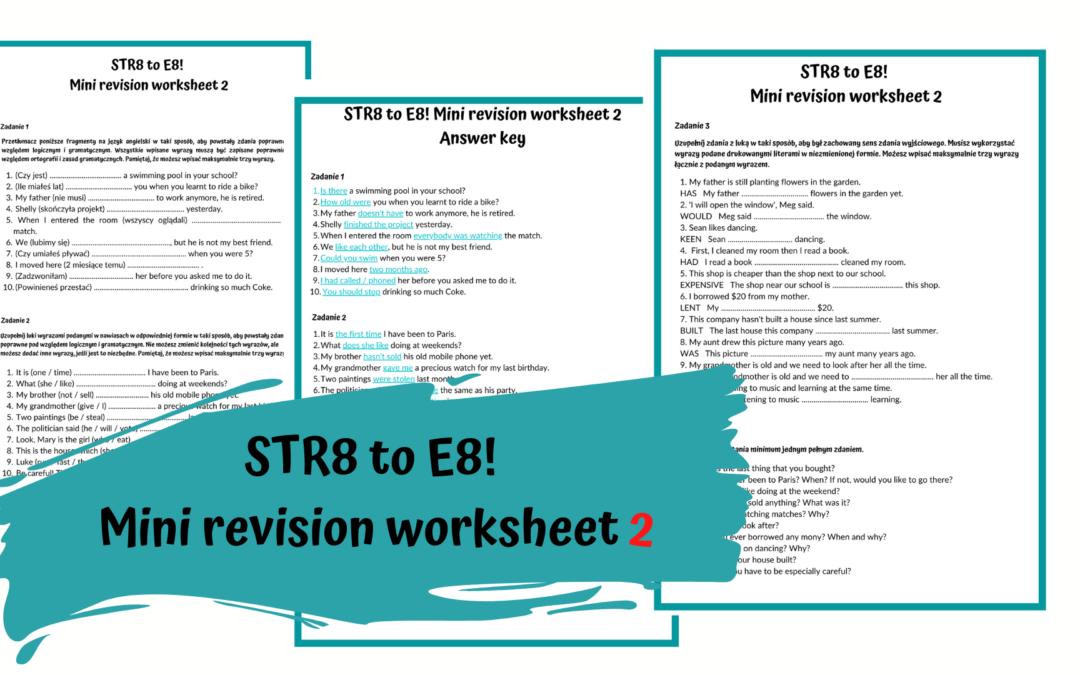 Przygotowanie do E8 – zestaw powtórzeniowy nr 2