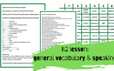 General dice grids – karta pracy poziom B2-C1
