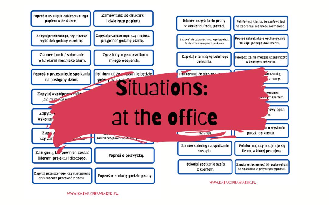 Sytuacje: w biurze